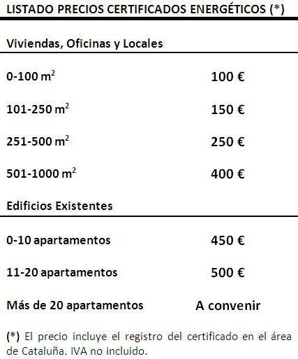 Updated listado precios español
