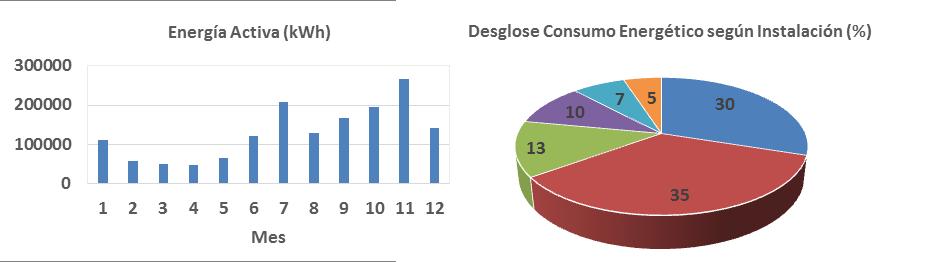 Consumo mensual y desglose